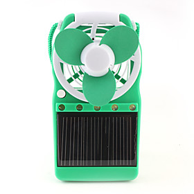Solar Power Fan with LED Lights (Random Color)