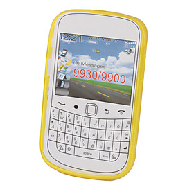 Protective TPU Translucent Case for Blackberry 9900 (Yellow)