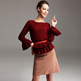 TS Cozy Ruffle Knitwear Top