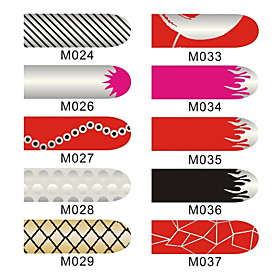 16pcs Nail Foil Art Armour Wraps Patch Stickers Manicure