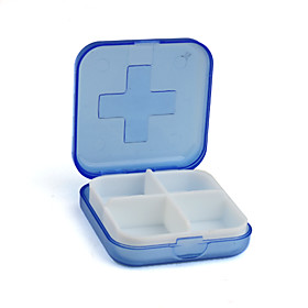 4-Compartments Pill Case(Blue)