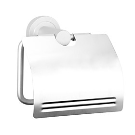 Anodizing  Finish Aluminum Bathroom Accessories Wall Mount Toilet Paper Holder with Cover