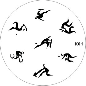 Nail Art Stamp Stamping Image Template Plate K series 8
