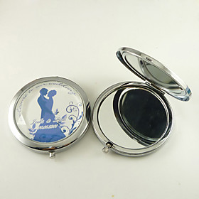 Personalized Compact Mirror - Bride and Groom