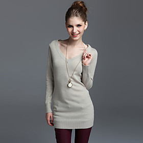 V-Neck Cashmere Gold Dress