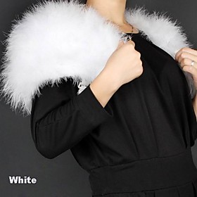 Short Sleeve Feather/ Fur/ Satin Wedding/ Party Jacket/ Wrap