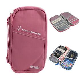 Multifunctional Storage Handbag Passport Holder (Pink)