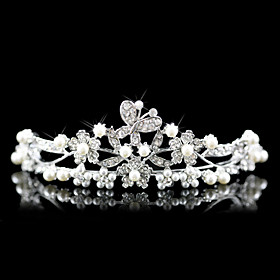 Alloy With Cubic Zirconia Bridal Tiara