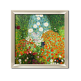 Framed Hand-painted Oil Painting by Gustav Klimt with Stretched Frame