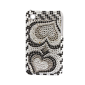Premium Protective Back Case with Crystals for iPhone 3G/3GS