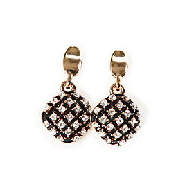 TS Black and Gold Alloy Earrings