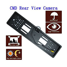 Car Rearview Camera (Nightvision, Waterproof, EU License Plate)