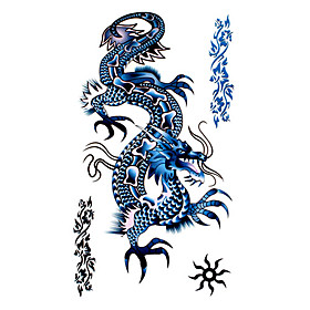 5 Pcs Dragon Waterproof Temporary Tattoo(17.5cm 10cm)