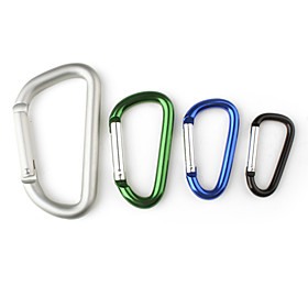 D-character Shaped Aluminum Carabiner (Color Assorted)
