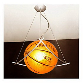 Basketball Featured Chandelier in Warm Light