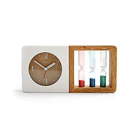 Novelty Colorful Sandglasses Design Desktop Analog Clock (1xAA)