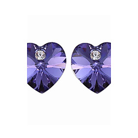 High Quality Alloy And Crystal With Platinum Plated Earrings