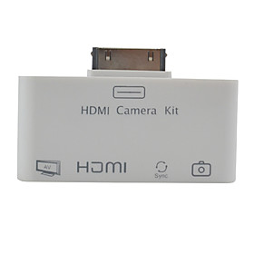 4-in-1 1080P HDMI/AV/Camera Connection/Card Reader Combo/Adapter for iPad, iPad 2 and The new iPad