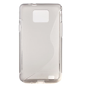 Protective Rubber Gel Silicone Back Case for Samsung i9100 Galaxy S2 (Gray)