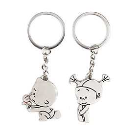 Cute Kid Kirksite Couple's Keychains (Pair)