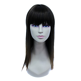 Capless Long High Temperature Wire Brown Natural Straight Hair Wig