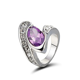 Gorgeous 18K White Gold Plated Cubic Zirconia Ring More Colors Available