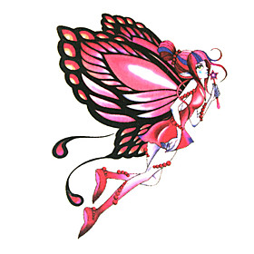 5 Pcs Angel Waterproof Temporary Tattoo(6m 6cm)