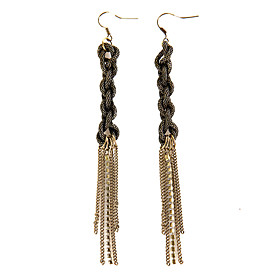TS Chain Knot Earrings