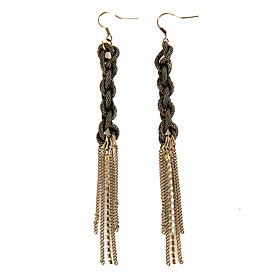 TS Chain Knot Earrings