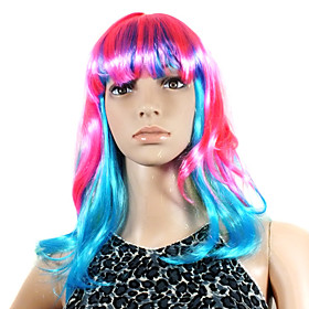 Capless Long High Quality Synthetic Colorful Costume Party Wig