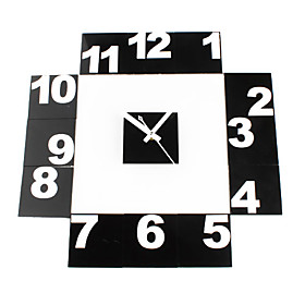 DIY Number Free Combination Analog Wall Clock