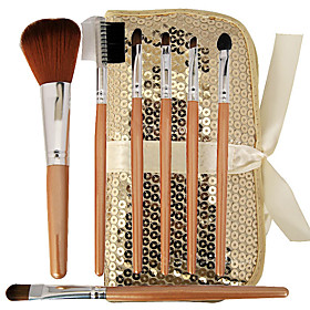 Brand New 7 Pcs Mini Synthetic Fiber Starter Makeup Brush Kit Set