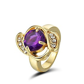 Gorgeous 14K Gold Plated Rhinestones Ring More Colors Available