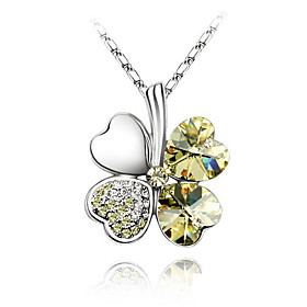 Crystal Sweet Four-leaf Necklace