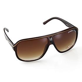 UV400 Resin Lens Glare Guard Driving Sunglasses (Brown Frame Gadient Lens)