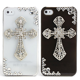 Fashionable Diamond Case for iPhone 4 / 4S (Cross, Handmade)