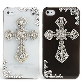 Fashionable Diamond Case for iPhone 4 / 4S (Cross, Handmade)