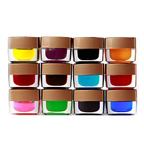 12 Colored Glaze Builder gel Nail Art 8ml
