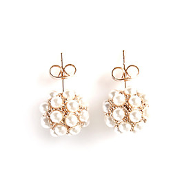 TS Pearl Cluster Earrings