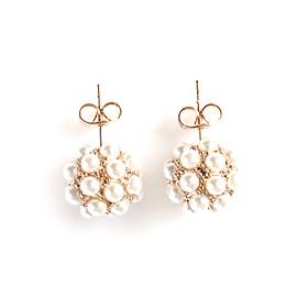 TS Pearl Cluster Earrings