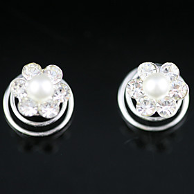 2 Pieces Gorgeous Rhinestones/ Imitation Pearl Wedding Bridal Headpieces