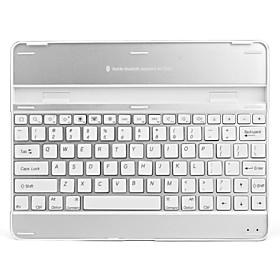 Ultra-Slim USB Rechargeable Wireless Bluetooth V2.0 82-Key Keyboard Aluminum Alloy Case for iPad 2 a