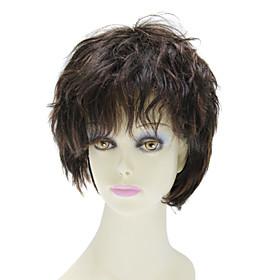 Capless Short 100% Human Hair Straight Hair Wig