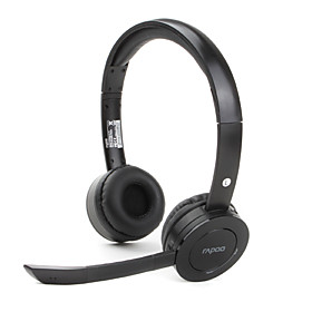 Rapoo H8000 Wireless USB Microphone Headphones (Black)