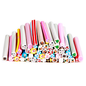 50pcs 3D Cane Stick Rod Sticker Nail Art Decoration -Christmas Sets
