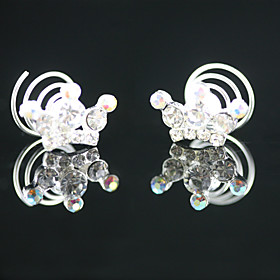 2 Pieces Gorgeous Rhinestones Bridal Pins Wedding Headpieces