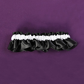 Black and White Wedding Garter