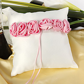 Pink luxury Rose Lined Ring Pillow