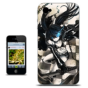 Black Rock Shooter Desperation Version Anime Case for iPhone 4/4s