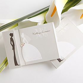 Bride and Groom Wedding Invitation (set of 50)